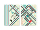Abstrakte Linien retro poster — Stockvektor