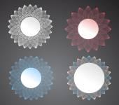 Set of vector lace frames design templates. — Stock Vector