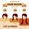 Vector Set Hair Salon Labels and Icons — Stock Vector #72345605