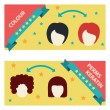 Vector Set  Hair Salon Labels and Icons — Stock Vector #72346153