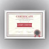 Certificado, Diploma de terminación — Vector de stock
