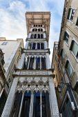 Santa Justa Elevator in Lisbon — Stock Photo
