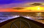 Ship in the ocean — Stock Photo