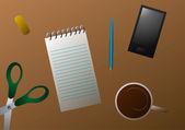 Vector illustration. Desktop. — Stock Vector