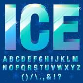 Buz harfler — Stok Vektör