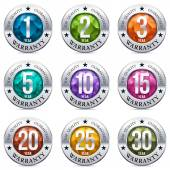 Warranty Seal Metal Badge — Stock Vector