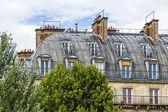 巴黎 mansards — 图库照片