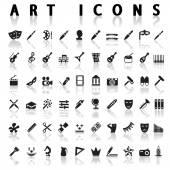 Art icons — Stock Vector