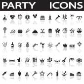 Party icons — Stock Vector