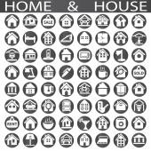 Home and house — Stock Vector