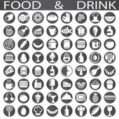 Drink and food — Stock Vector