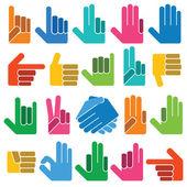 Different hands — Stock Vector