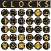 Clocks icons set — Stock Vector