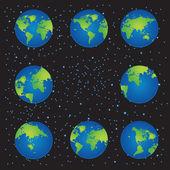 Dünya harita illüstrasyon — Stok Vektör