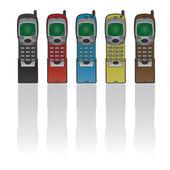 Teléfono retro — Vector de stock