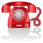 Retro telephone. Vector — Stock Vector