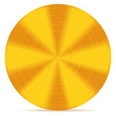 Gold disc — Stock Vector