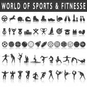 Fitness and sports Icons — Stock Vector