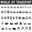 Постер, плакат: Transport icons