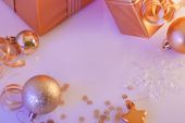 Christmas decorations, gifts  — Stock Photo