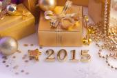 Christmas decorations, gifts and figures — Foto Stock