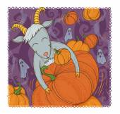 October goat — Stock Photo