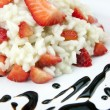 Strawberry risotto with traditional italian balsamic vinegar — Stock Photo #65668685