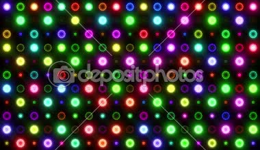 Colorful Lights Flashing VJ — Stock Video