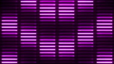 Neon Lights Flashing VJ Wall Stage Background — Stockvideo