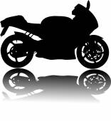 Silhouette of black motorcycle vector — Stock Vector