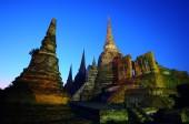 Zeit der Dämmerung von Wat Phra Sri Sanphet, Thailand — Stockfoto