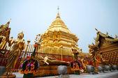 Golden pagoda wat Phra That Doi Suthep,Thailand — Stock Photo