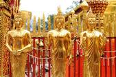 Golden buddha statue , wat Phra That Doi Suthep, Thailand — Stock Photo