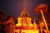 Phra That Doi Suthep temple in twilight, Thailand — Stock Photo