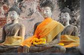 Groupe de statue de Bouddha, Wat Phutthaisawan, Thailand — Photo
