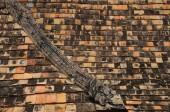 The roof of Wat Ton Kwen, Thailand — Stock Photo