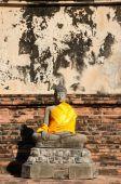 Buddha statue with pagoda, Wat Yai Chaimongkol, Thailand — Stock Photo