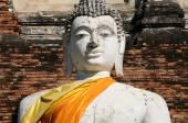 Buddha statue with pagoda, Wat Yai Chaimongkol , Thailand — Stock Photo