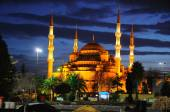 The blue Mosque after sunset — Стоковое фото