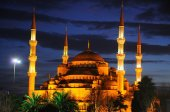 The blue Mosque after sunset — Stock Photo