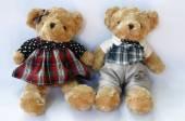Romantische teddybär — Stockfoto
