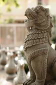 Animal sculpture at temple — Stock Photo
