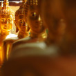 Golden buddha statue — Stock Photo #61011155