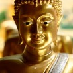 Golden buddha statue — Stock Photo #61011333