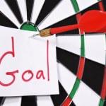 Dartboard for set goal concept — Stock Photo #62024639
