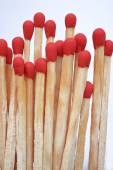 Set of red matches isolated on white background — Stock Photo