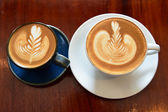 Latte Art Kaffee — Stockfoto