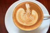 Taza de café latte art — Foto de Stock