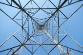 Vysoké napětí napětí post.high-věž — Stock fotografie
