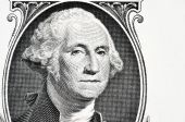 Portrait of president Washington on an one dollar bill — Stock Photo